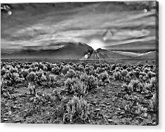 Dawn Over Magic Taos In B-w Acrylic Print