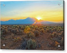 Dawn Over Magic Taos Mountain Acrylic Print