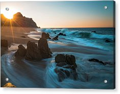 Acrylic Print featuring the photograph Dawn Over The Cliffs by Owen Weber