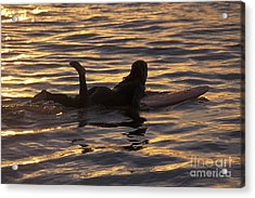 Dawn Patrol Acrylic Print by Stan and Anne Foster