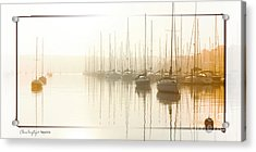 Dawn Reflections - Yachts At Anchor On The River Acrylic Print