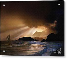 Dawn Sail Acrylic Print by Robert Foster