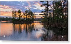 Dawn Serenity At Lake Tiorati Acrylic Print by Angelo Marcialis