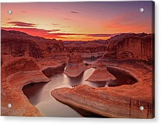 Dawn Sky Above Reflection Canyon. Acrylic Print