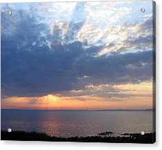 Acrylic Print featuring the photograph Dawn Sun Rays by Frederic Kohli