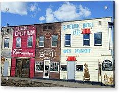 Dawson Creek Street Art Acrylic Print by Robert Braley