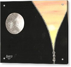 Acrylic Print featuring the painting Day And Night by Edwin Alverio