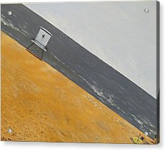 Acrylic Print featuring the painting Day At The Beach by Kevin Daly