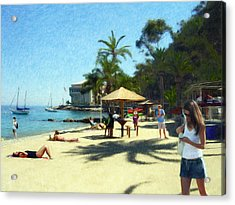 Day At The Beach Acrylic Print by Snake Jagger