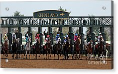 Keeneland Race Day Acrylic Print by Angela G