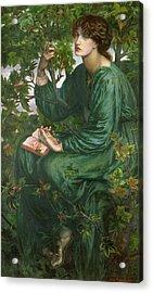 Day Dream Acrylic Print by Dante Charles Gabriel Rossetti
