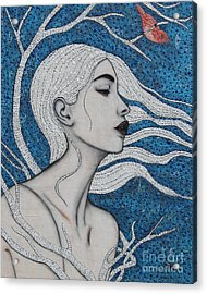Acrylic Print featuring the mixed media Day Dreamer by Natalie Briney