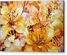 Day-lilies Acrylic Print by Nancy Newman