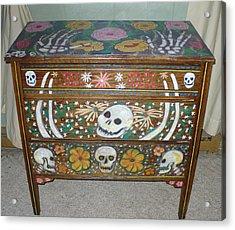 Day Of The Dead Dresser IIi   Acrylic Print