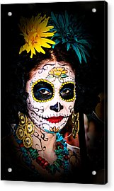 Day Of The Dead Eyes Acrylic Print