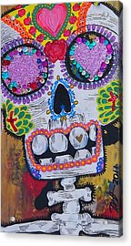Day Of The Dead Skeleton  Acrylic Print by Nancy Mitchell