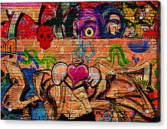 Day Of The Dead Street Graffiti Acrylic Print
