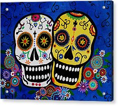 Day Of The Dead Sugar Acrylic Print by Pristine Cartera Turkus