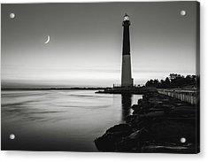 Daybreak At Barnegat, Black And White Acrylic Print by Eduard Moldoveanu