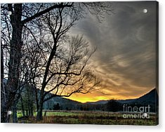 Daybreak In The Cove Acrylic Print by Douglas Stucky
