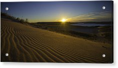 Acrylic Print featuring the photograph Daybreak On The Dunes by Owen Weber