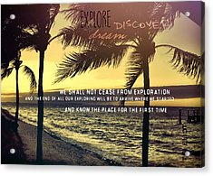 Daybreak Quote Acrylic Print by JAMART Photography