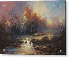 Daybreak Willow Creek Acrylic Print by Tom Shropshire