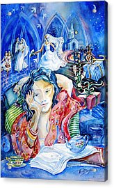 Acrylic Print featuring the painting Daydreaming Bride by Trudi Doyle