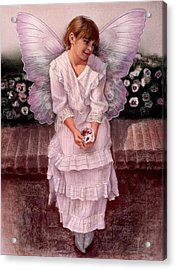Daydreaming Fairy Girl Acrylic Print