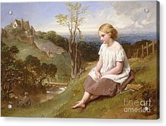 Daydreaming On The River Bank Acrylic Print by Henry Lejeune