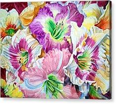 Daylilliesll Acrylic Print by Bette Gray