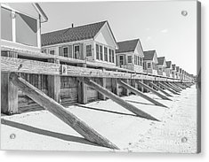 Acrylic Print featuring the photograph Days Cottages Row From The Beach by Edward Fielding