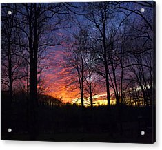 Acrylic Print featuring the photograph Day's End by Alan Raasch