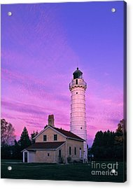 Days End At Cana Island Lighthouse - Fm000003 Acrylic Print
