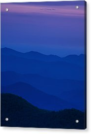Day's End At The Blue Ridge Acrylic Print by Andrew Soundarajan