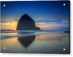 Day's End In Cannon Beach Acrylic Print