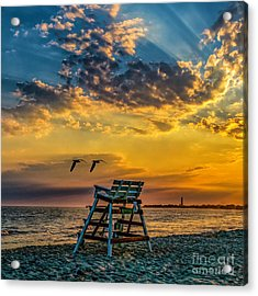 Days End In Cape May Nj Acrylic Print