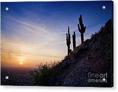Acrylic Print featuring the photograph Days End In The Desert by Scott Kemper