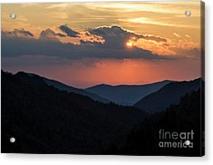 Acrylic Print featuring the photograph Days End In The Smokies - D009928 by Daniel Dempster