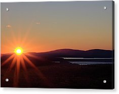 Acrylic Print featuring the photograph Days First Light IIi Hdr by Greg DeBeck