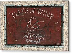 Days Of Wine And Roses Acrylic Print by Debbie DeWitt