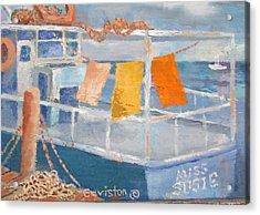 Acrylic Print featuring the painting Day's Work by Tony Caviston