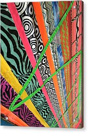 Dazzling Delirious Duct Tape Diagonals Acrylic Print