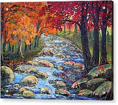 Acrylic Print featuring the painting Dazzling View From The Rapidan by Lee Nixon