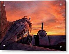 Dc-3 Dawn - 2017 Christopher Buff, Www.aviationbuff.com Acrylic Print