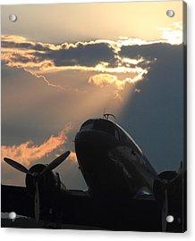 Dc-3 On Sunrise 1 Acrylic Print by Maxwell Amaro