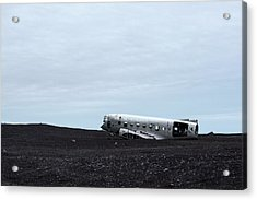 Acrylic Print featuring the photograph Dc-3 Plane Wreck Iceland by Brad Scott