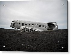 Acrylic Print featuring the photograph Dc-3 Wreck On The Solheimasandur by Alex Blondeau