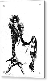 Dc Comics Sandman And Death Acrylic Print