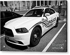 dc metropolitan police patrol cruiser car judiciary square Washington DC USA Acrylic Print